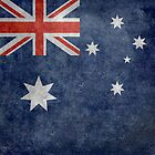 The National flag of Australia, retro textured version (authentic scale 1:2) by Bruce Stanfield