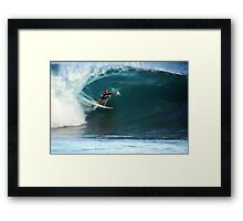 Kelly Slater at Pipeline Masters Framed Print