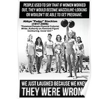 Lifting Doesn't Make Women Masculine-Looking Poster