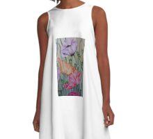 1187 Poppies A-Line Dress