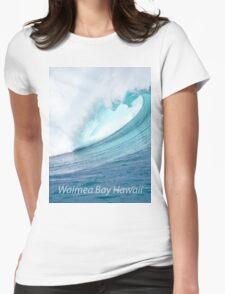 Waimea Bay Wave T-Shirt Womens Fitted T-Shirt