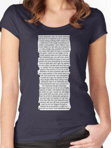 Sebastian Stan Paragraph Design Women's Fitted Scoop T-Shirt