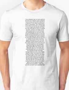 Sebastian Stan Paragraph Design Unisex T-Shirt
