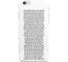Sebastian Stan Paragraph Design iPhone Case/Skin