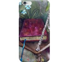 Book on swing by gerdasmitart iPhone Case/Skin