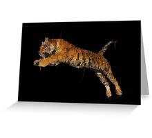 Polygon Tiger Jumping  Greeting Card