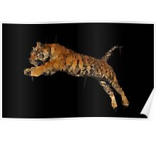 Polygon Tiger Jumping  Poster