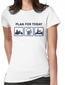 Funny Motorbike Plan For Today Womens Fitted T-Shirt