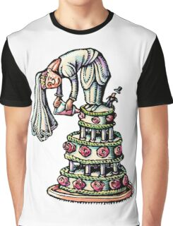 Bride Decorates Her Own Wedding Cake Graphic T-Shirt