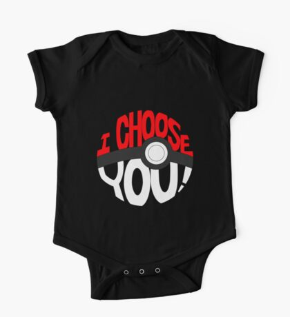 pokemon i choose you One Piece - Short Sleeve