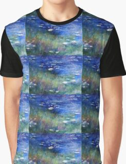 Water Lilies II -  My impressionistic Painting Graphic T-Shirt