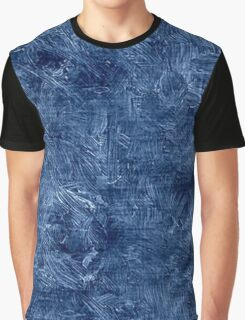 Bright Cobalt Oil Painting Color Accent Graphic T-Shirt