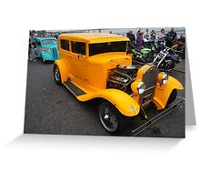 Cancer Hotrod Greeting Card