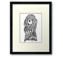 Happy Head Girl Framed Print