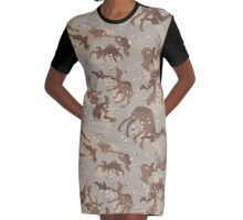 Camelflage Graphic T-Shirt Dress