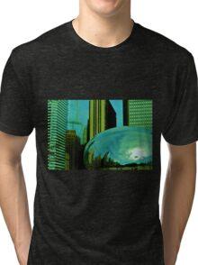 Chicago 3- Green Bean Tri-blend T-Shirt