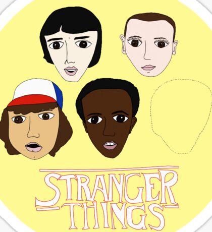Stranger Things Crew - Yellow Sticker