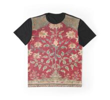Indian Floral Rug 17th Century Fine Art Graphic T-Shirt