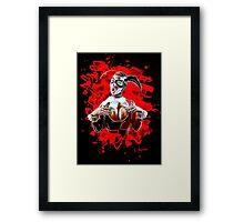 Harlequin Psychedelic - red Framed Print