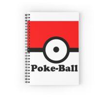 Poke Ball Print Spiral Notebook