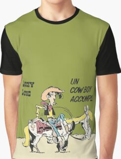 Lucky Luke Accomplished Cowboy.  Graphic T-Shirt