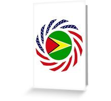Guyanese American Multinational Patriot Flag  Greeting Card