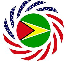 Guyanese American Multinational Patriot Flag  Photographic Print