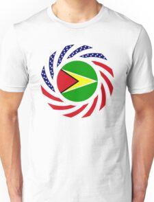Guyanese American Multinational Patriot Flag  Unisex T-Shirt