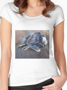 One bird escape from the Zoo of Death Women's Fitted Scoop T-Shirt