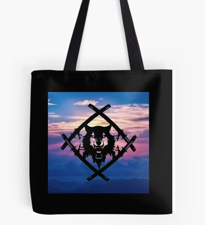 HollowSquad Black Sunset Tote Bag