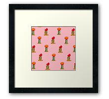 Colorful Cactus in Pink Framed Print
