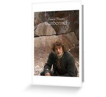 Jamie Fraser-Dunbonnet Greeting Card