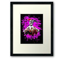 Harlequin Psychedelic - pink Framed Print