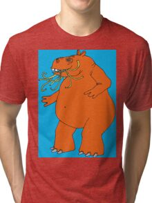 Hungry Hippo Need Udon Noodles Osaka Style Tri-blend T-Shirt