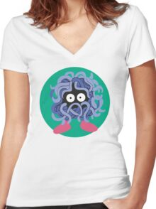 Tangela - Basic Women's Fitted V-Neck T-Shirt