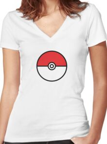 POKEMON GO POKEBOLA Women's Fitted V-Neck T-Shirt