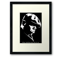 The Notorious B.I.G. Stencil Framed Print