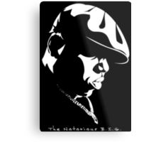 The Notorious B.I.G. Stencil Metal Print