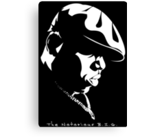 The Notorious B.I.G. Stencil Canvas Print