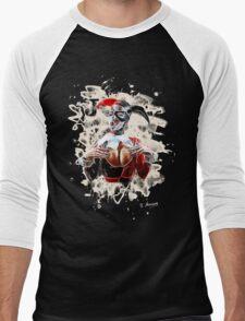 Harlequin Psychedelic - white Men's Baseball ¾ T-Shirt
