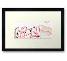 Penpals: Pink Framed Print