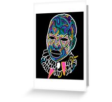Voodoo Portrait with ethnic ornaments Greeting Card