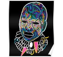 Voodoo Portrait with ethnic ornaments Poster