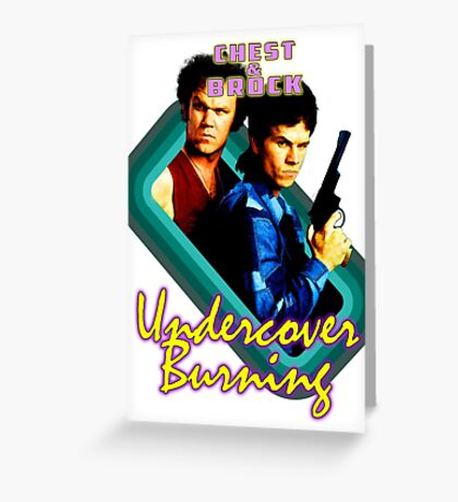 Brock and Chest- Undercover Burning Greeting Card