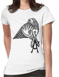 Buffy- angel's tattoo (black) Womens Fitted T-Shirt