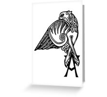 Buffy- angel's tattoo (black) Greeting Card