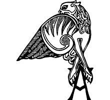 Buffy- angel's tattoo (black) Photographic Print