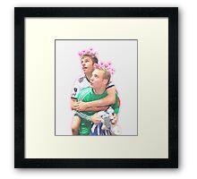 Neuer and Muller - German Football Framed Print