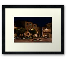 plaza les olives Framed Print