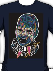Voodoo Portrait with ethnic ornaments T-Shirt